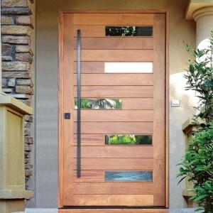 Luxury Solid Oak UV lacquered Finishing Pivot Interior Wooden Door