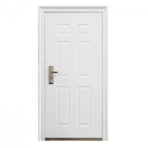 White Powder Coating 6 Panel Secutiry Steel /Metal Door KTSS-5003