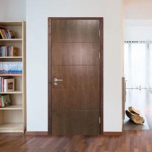Luxury Walnut Veneered UV lacquered Finishing Interior Wooden Door