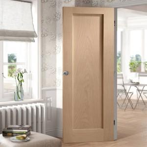 Paneled Solid Wood Primed Shaker Standard Door KD01A oak shaker