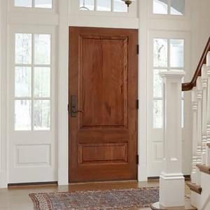 Mahogany solid wood door entrance door KD02A