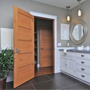 Kangton  Solid Wood Interior 5 Panel Shaker DoorKD05C Wood Door