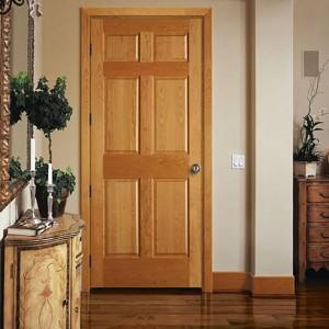Modern plain Solid Wood main Door/100% solid oak wood door models KD06AP oak