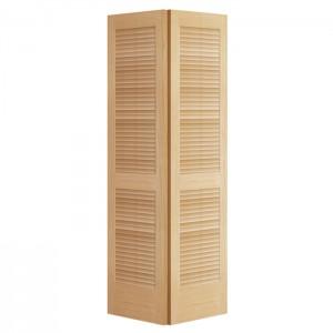 Folding Cabinet Door Bi Fold Ventilated Solid Wood Louver Closet Doors Louver Door KDL103