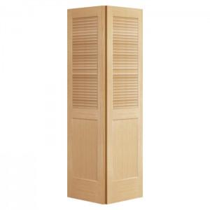 Finished Solid wood folding shutter doors interior Louver Door KDL302