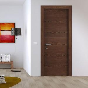 waterproof veneer laminated living room wood MDF wooden doors Melamine Laminate Door KDM00C