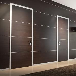 Walnut veneer laminated MDF interior sold wood doors for main front door Melamine Laminate Door KDM30H