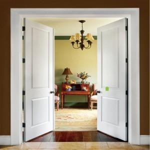 Prehung Hollow Core HDF Interior Door with Wood Texture for Room Door /Bathroom door