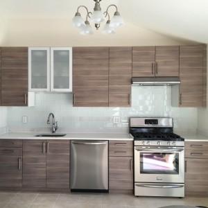 European Style Modern Design Custom Materials Wood Veneer Kitchen Cabinets