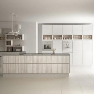 High End Matt Grey Industrial Import Hotel Kitchen Cabinet With Island