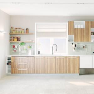 Natural Wood Veneer Kitchen Cabinets with Blum Hardware