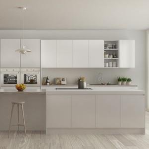 Kangton Matt Grey Lacquer Kitchen Cabinet with MDF Customized Design